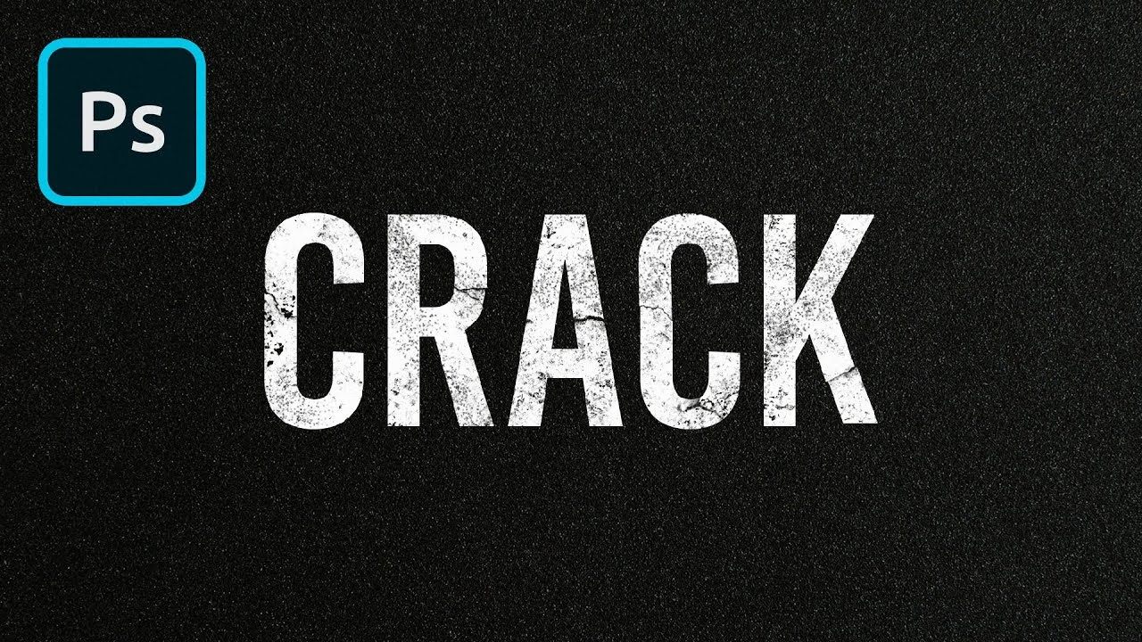 Cracked Text Effect Photoshop Tutorial