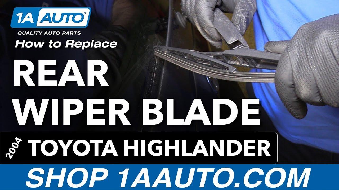 Toyota Highlander Service Manual: Wiper rubber LH