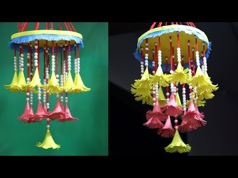 Nice Paper wind chimes | How to make wind chime out of paper | Flower wind chimes