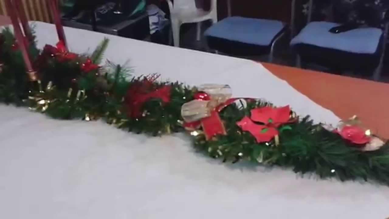 Centro de mesa navide o 175 cm youtube - Youtube centros de mesa navidenos ...
