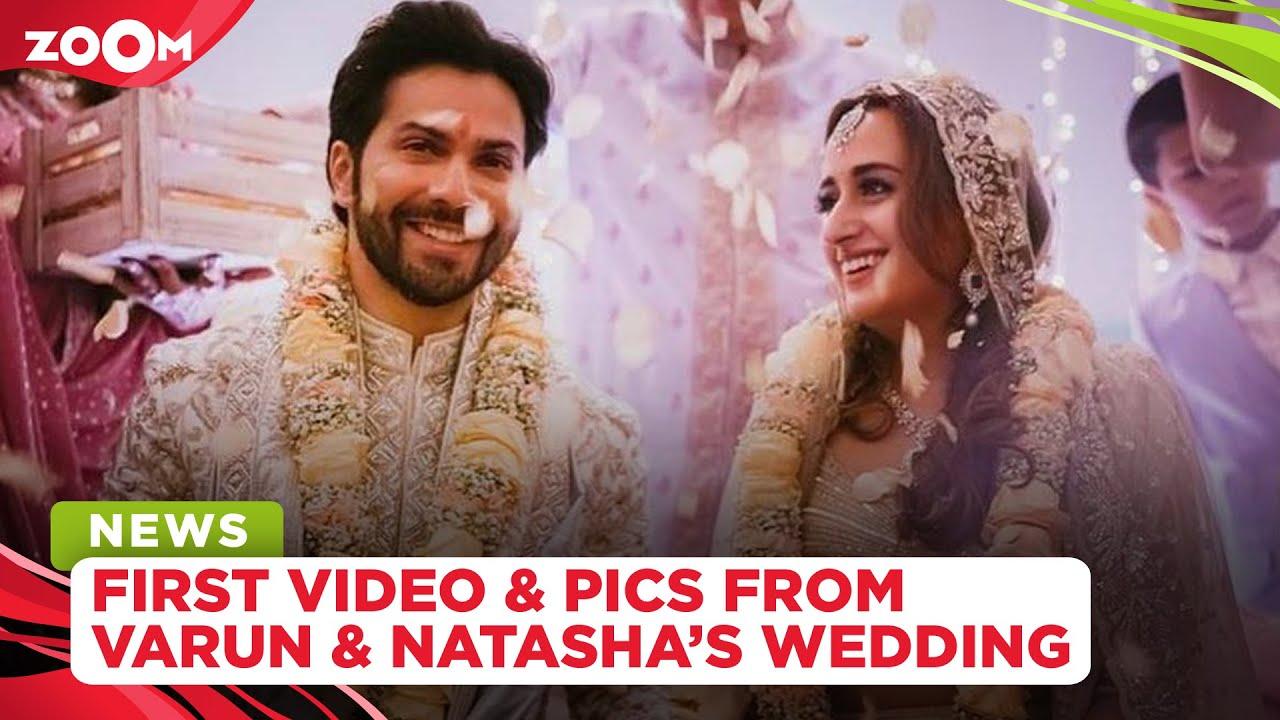 Varun Dhawan and Natasha Dalal's wedding FIRST pictures and videos