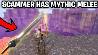 SCAMMER HAS NEW MYTHIC MELEE! (Scammer Gets Scammed) Fortnite Save The World