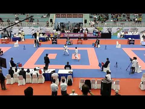 Srunita Sari Kejuaraan antar master 2017, tes ivent karate asian games 2018,