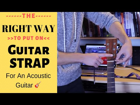 How to attach guitar strap to an acoustic guitar