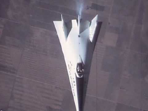 X-24B Fin Airflow Test