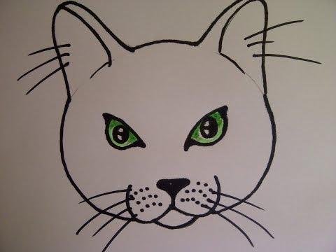 Katzengesicht Zeichnen Katzenkopf Zeichnen Katzenauge Zeichnen