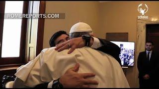 Pope Francis' warm embrace with Argentinian soccer legend, Maradona