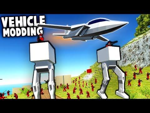 NEW Jet Fighter vs AT-ST Walker!  F-14 Tomcat & Mech Vehicle Mods (Ravenfield Gameplay)