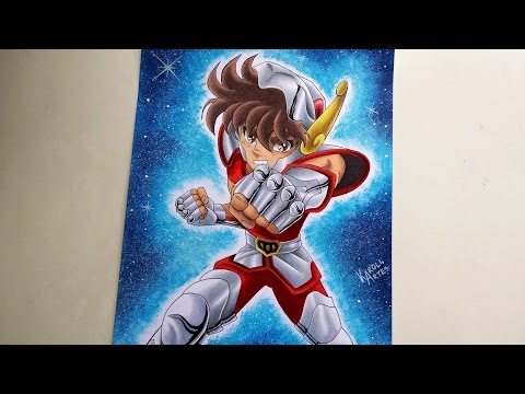 Speed Drawing Seiya - Saint Seiya [COLLAB]