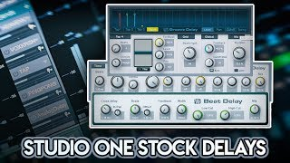 Exploring Studio One | Stock Delay Plugins .
