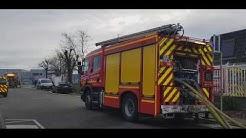 Schiltigheim : important incendie à l'Espace européen de l'entreprise Strasbourg