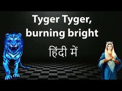 English Poem - The Tyger by William Blake - Explanation & analysis in Hindi