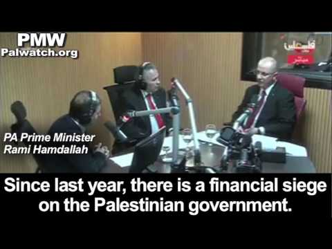 PA PM Hamdallah: The US has not paid one dollar in aid to the PA in 2016
