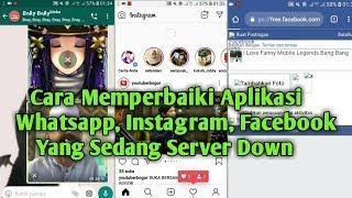 Cara Memperbaiki Aplikasi Whatsapp, instagram, Facebook - Yang Error