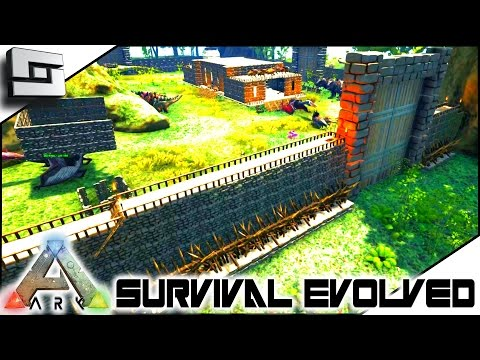 ARK: Survival Evolved - DEFENSIVE WALL UPGRADE! S4E34 ( The Center Map Gameplay )