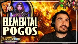 POGOS WORK WITH ELEMENTALS JUST FINE! - Hearthstone Battlegrounds