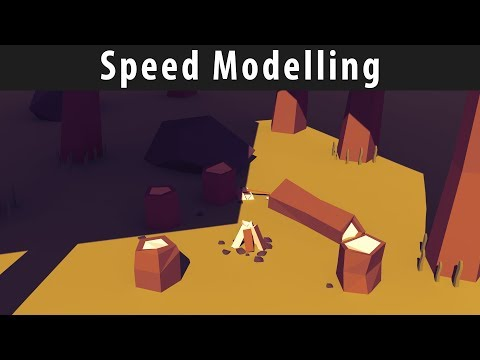 [Speed Modelling] - Low Poly Camp Fire
