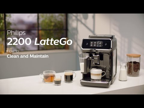 Philips Series 2200 LatteGo EP2231/40 Automatic Coffee Machine - How to Clean and Maintain