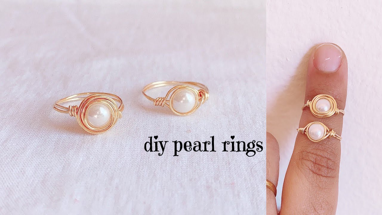 Pearl Gold Wire Ring
