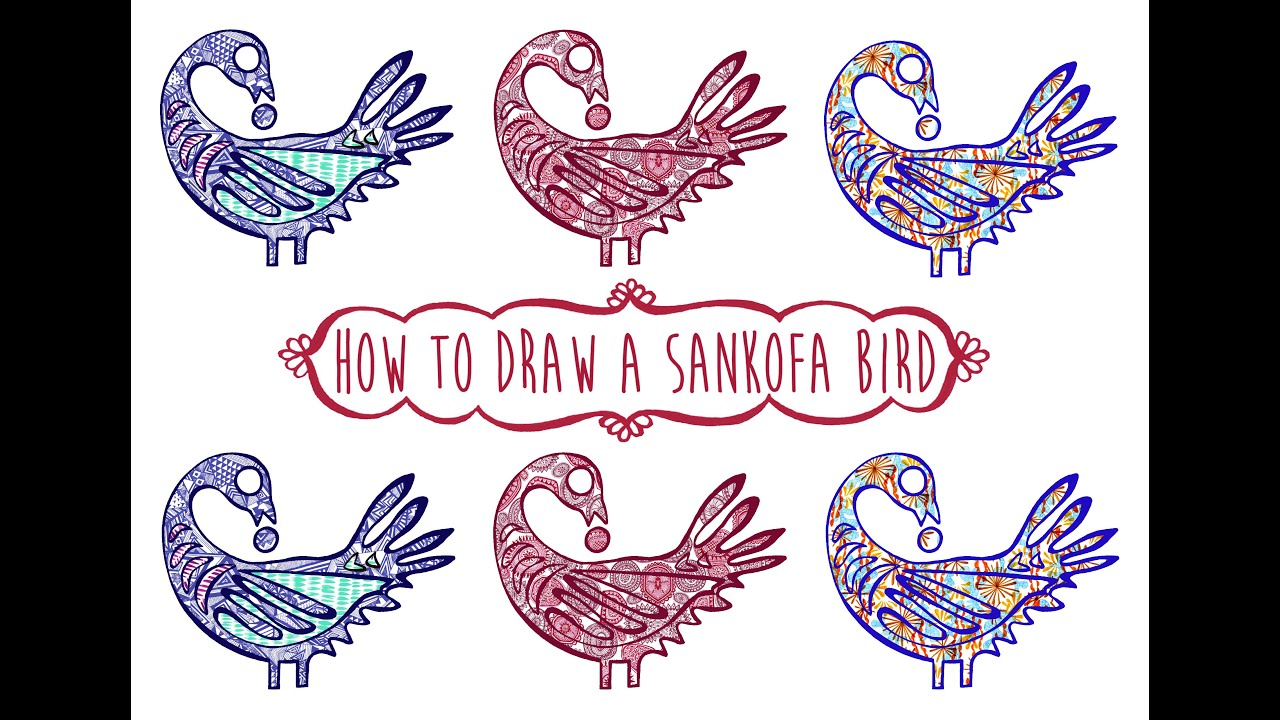 How to draw a Sankofa bird