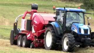 Welger RP245 Profi and New Holland tractor  baling silage 2014