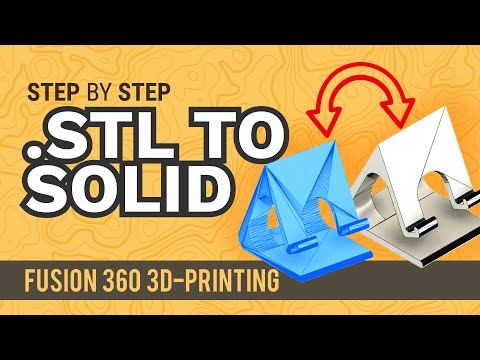 How to Convert an  STL Mesh To a Solid Body - Learn Autodesk Fusion 360 in  30 Days: Day #18