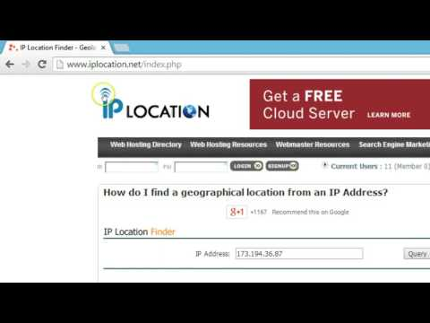 how to find the location of ip