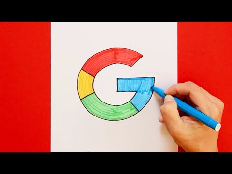 How to draw Google Logo