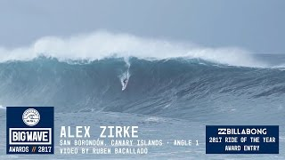Alex Zirke at San Borondón 1 - 2017 Billabong Ride of the Year Entry - WSL Big Wave Awards