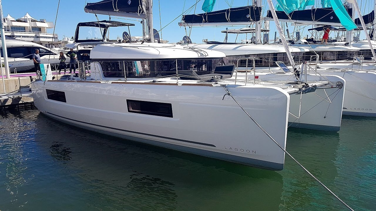 Lagoon 40 catamaran Walkthrough at Cannes 2017