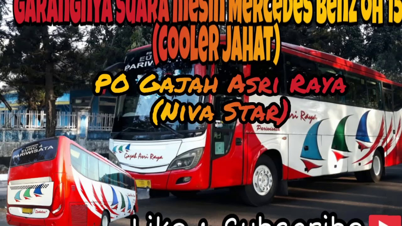 Garangnya Suara Mesin Mercedes Benz Oh 1521 Cooler Jahat Youtube