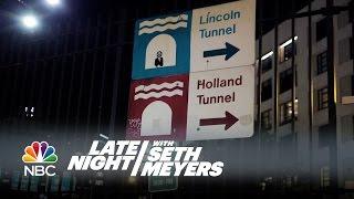 Seth Meyers Recreates David Letterman