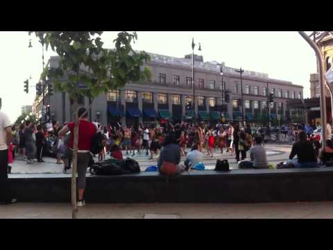 African flash mob dancing DC
