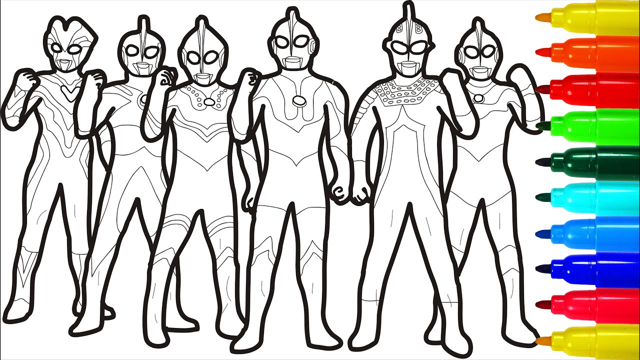 Ultraman Brotherhood Coloring Pages