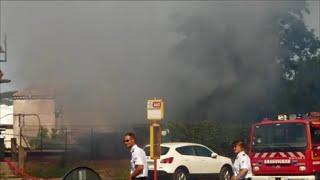 Feu Pompier Draguignan VAR 08 Juillet 2015 Incendie