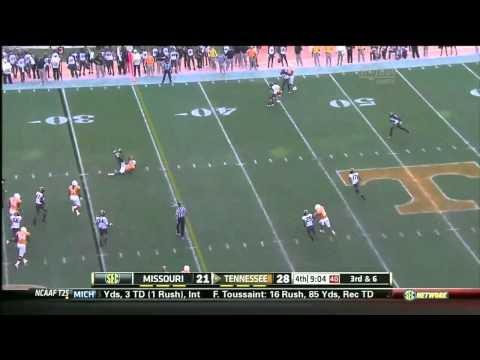 Tyler Bray vs Missouri 2012