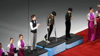 Rostelecom Cup 2018  .11.18 Men Medal Ceremony Yuzuru Hanyu ①