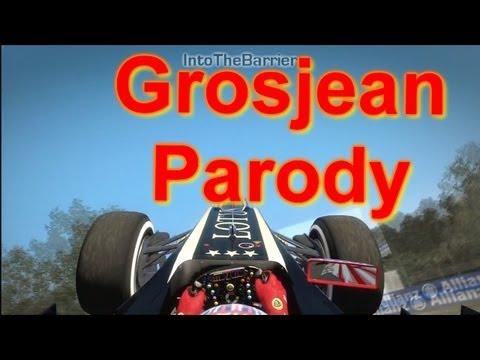 F1 Game 2012 - When Grosjean Meets The First Corner (Parody)
