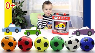 Learn colors with Cars and Balls - Учим цвета на английском