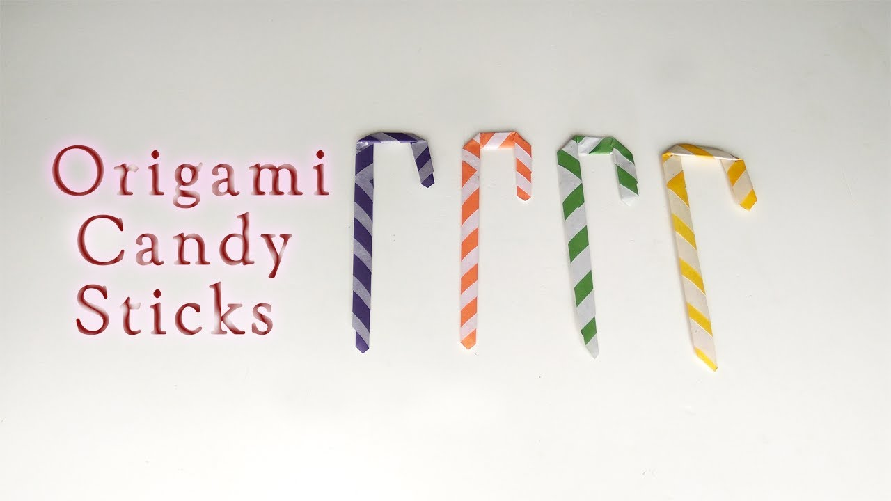 Easy origami candy cane ornament (heart and cheese remix) - YouTube | 720x1280