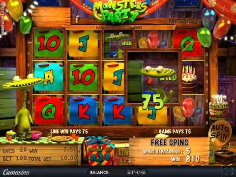 935$ Big Win on Monsters Party BEST ONLINE CASINO SLOT