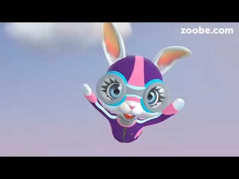 Zoobe Зайка- хорошое поздравления с Пасхой - Прикольное видео онлайн