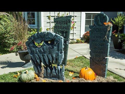 How To - Ken Wingard's DIY Graveyard Tombstones - Home & Family