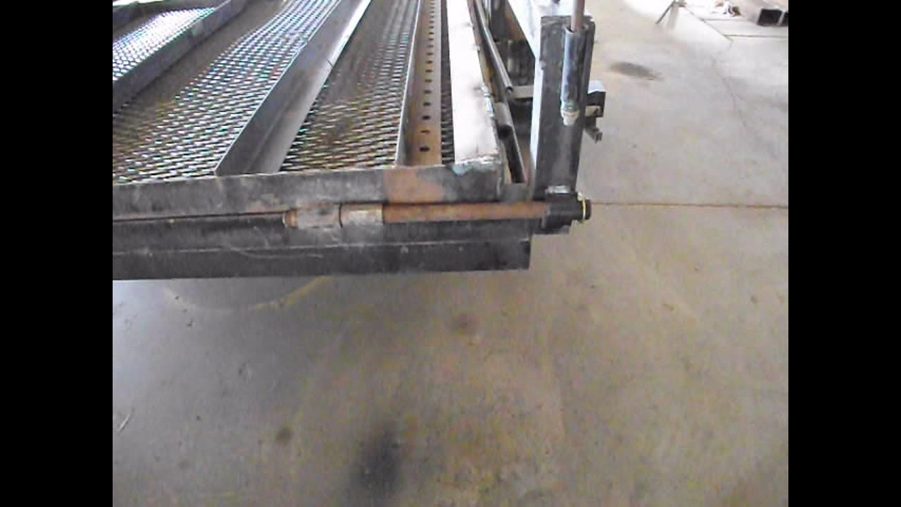 Trailer Ramp Hinge Modification Youtube