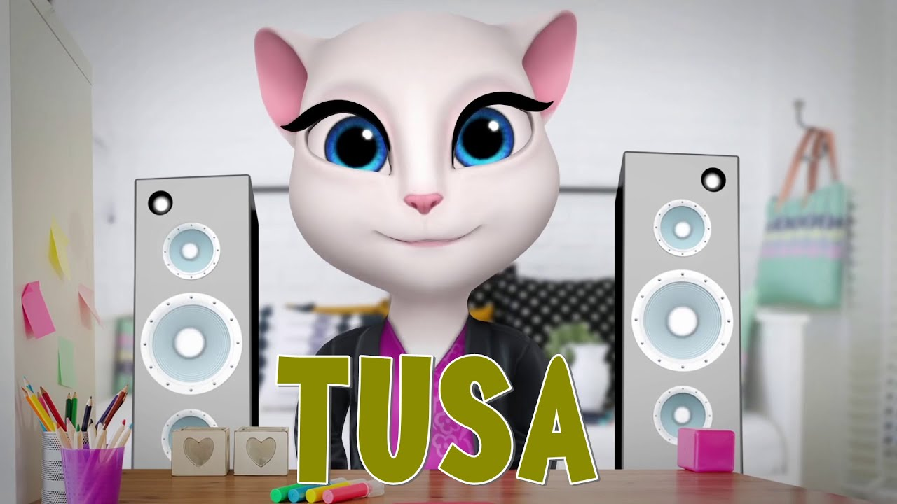 Tusa - Karol G, Minag, Talking Angela | Parodia