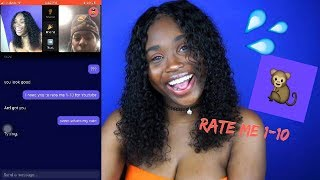 ASKING RANDOM GUYS TO RATE ME!!! | MONKEY APP