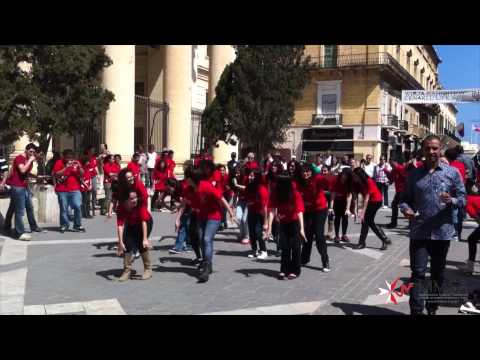 MMSA Flash Mob 2012 Fight Obesity | Exercise Daily Great Siege Square, Valletta