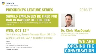 President's Lecture Series - Dr. Chris MacDonald
