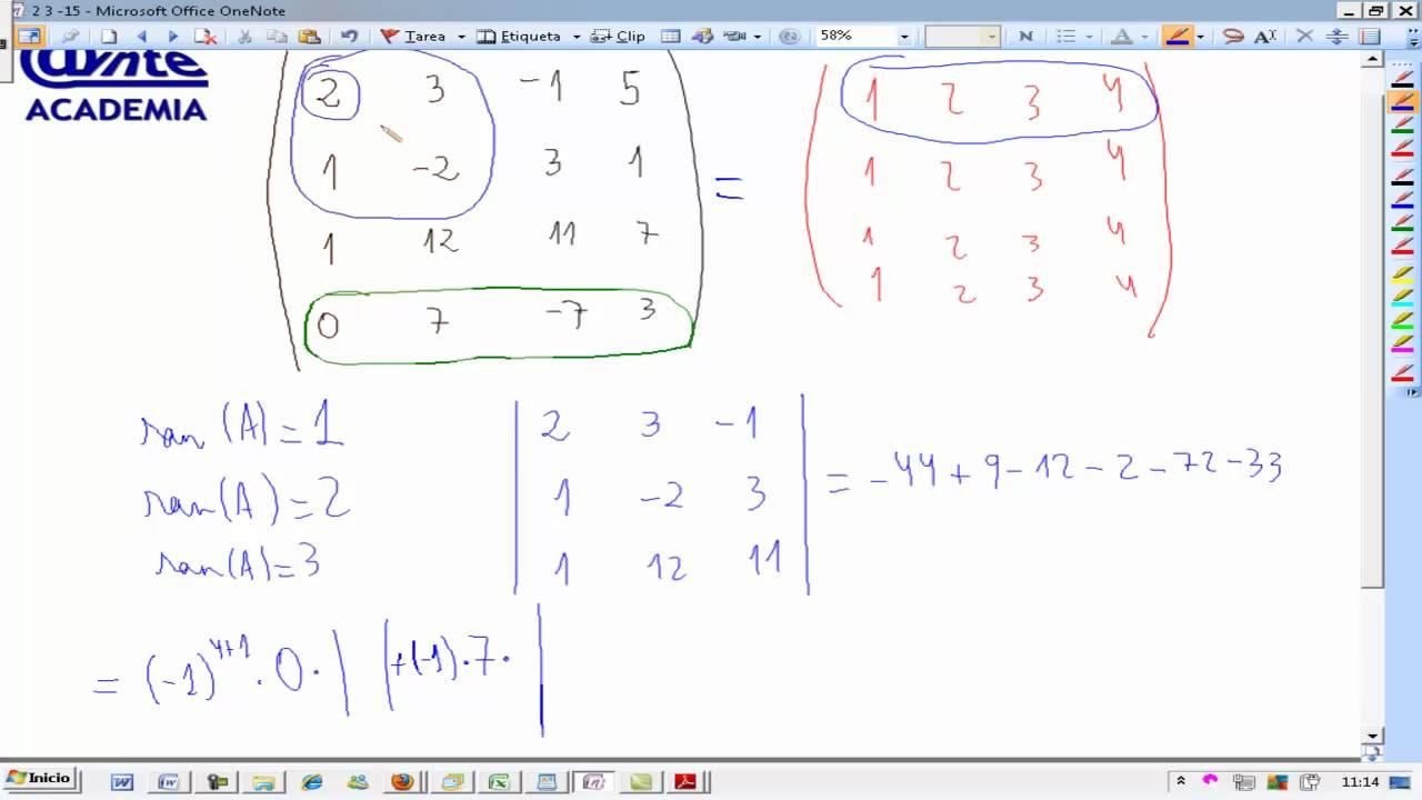 matriz 4x4 calcular determinante matematicas 2. Black Bedroom Furniture Sets. Home Design Ideas