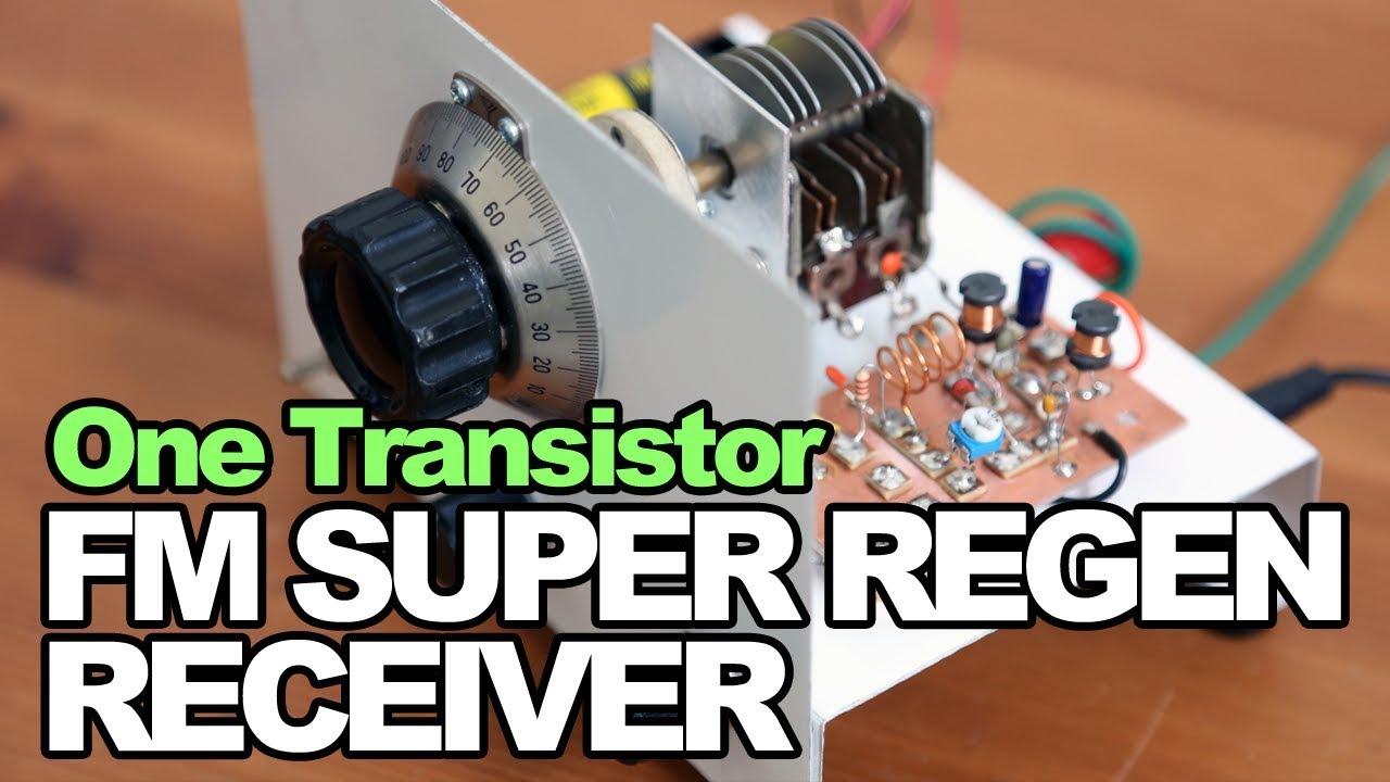 One Transistor Fm Super Regen Receiver Radio